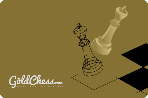 chess figures and goldchess logo